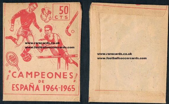 1964 Campeones Espana SEALED packet